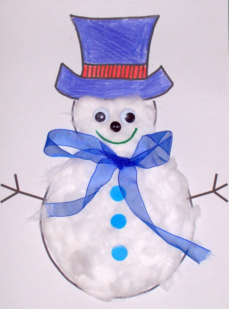 Snowman WinterSnow Themed Storytime Craft Idea PaperSnowman