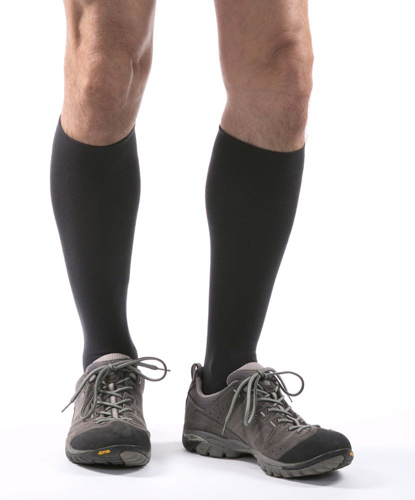 8f76670132 Allegro Premium Milk Compression Socks in Grey - Imagining your legs  resting on a cloud and wearing compression socks are probably not images  you would put ...