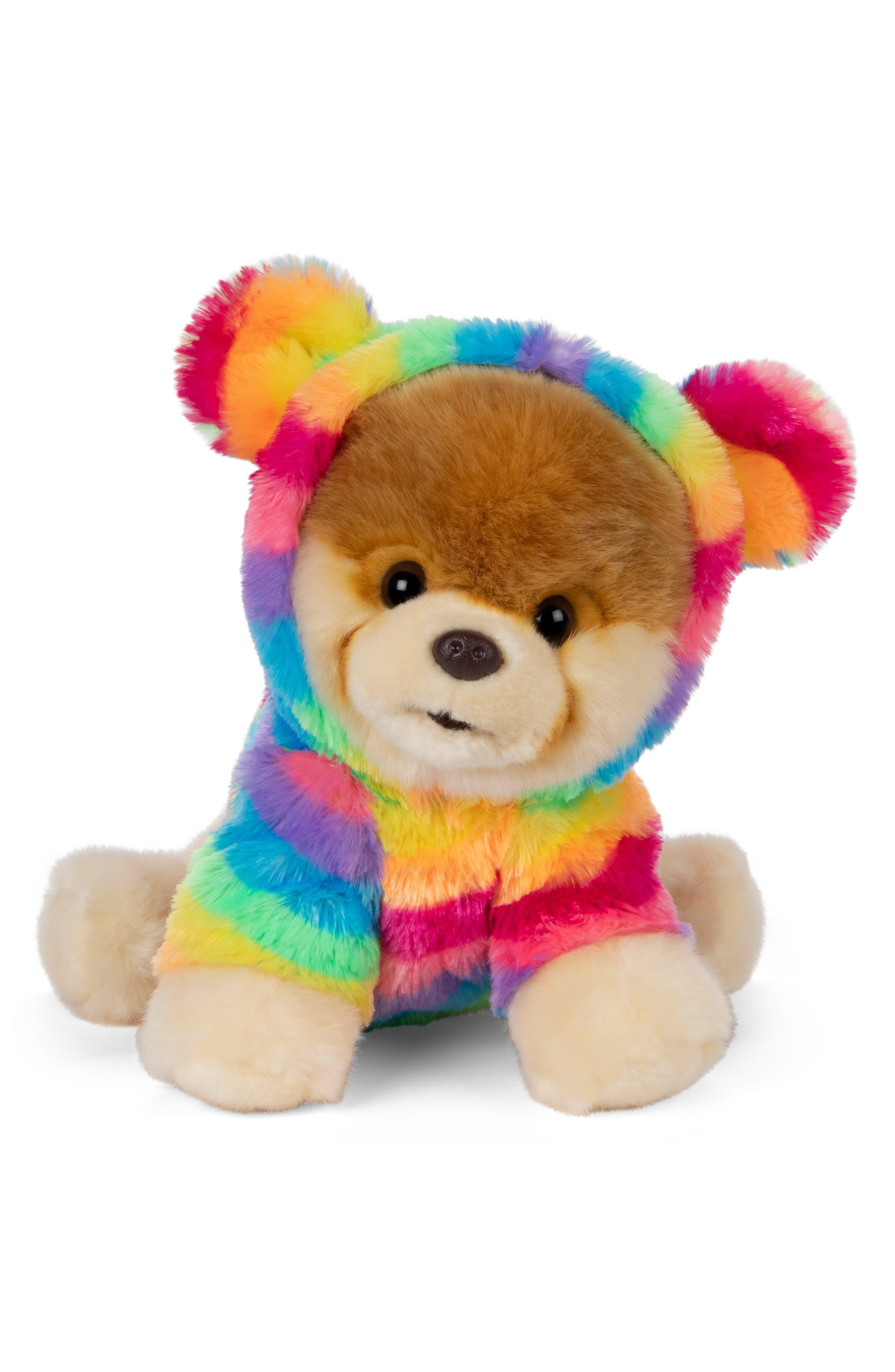 Gund Boo Rainbow Coat Stuffed Animal Nordstrom Rainbow Plush Boo Plush Cute Little Puppies [ 4048 x 2640 Pixel ]