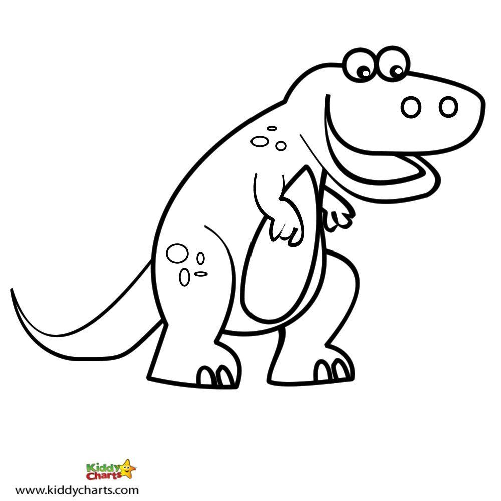 Colouring in reward charts - Free Dinosaur Colouring In Pages From