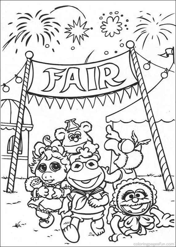Free Coloring Pages Of Fun Fair Did Adult County Fair Coloring