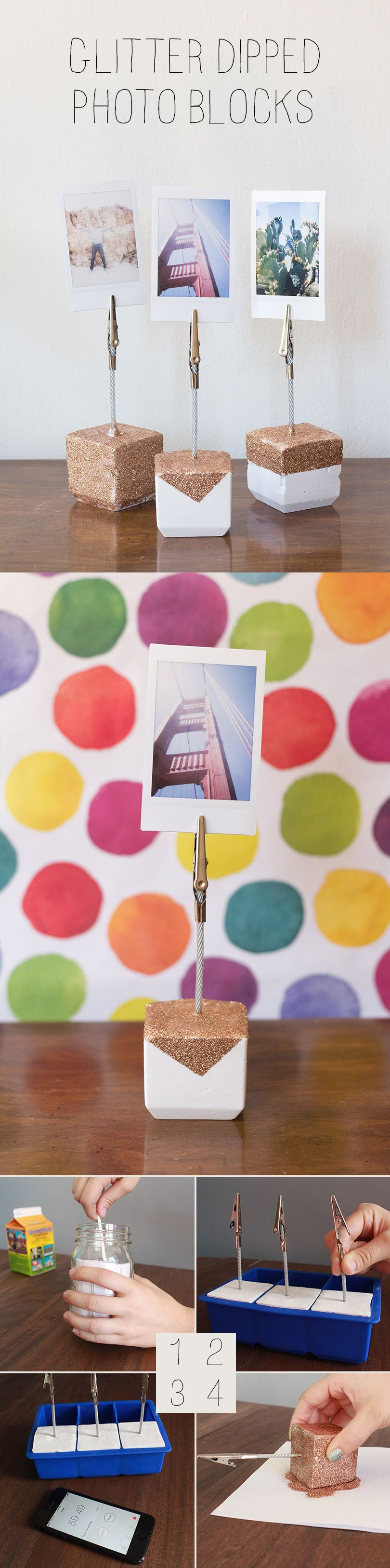 Glitter Dipped Photo Holders for Darby Smart. Designed by ...