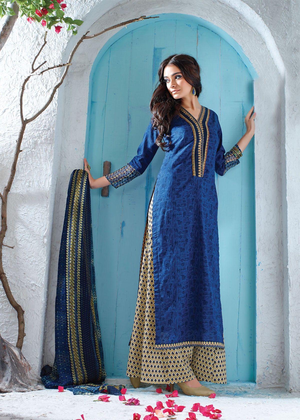 10-11_sp_1royal_blue_cotton_printed_salwar_kameez_with_palazzo_pant ...