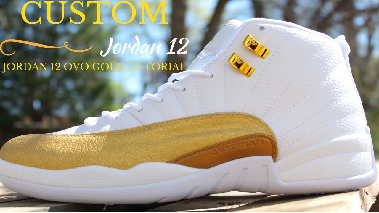 newest collection 253f1 297d1 Custom Jordan 12 OVO Gold