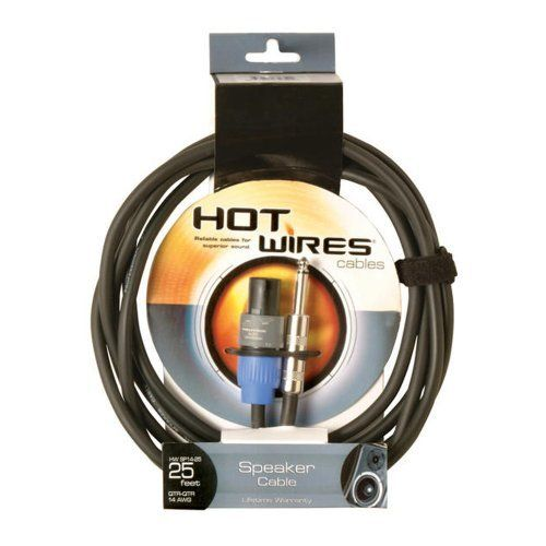 Hot Wires Speakon To 1 4 Inch Speaker Cables 10 Feet By On Stage 19 99 Hot Wires Speakon To 1 4 Inch Speaker Cab Speaker Cables Speaker Accessories Cables