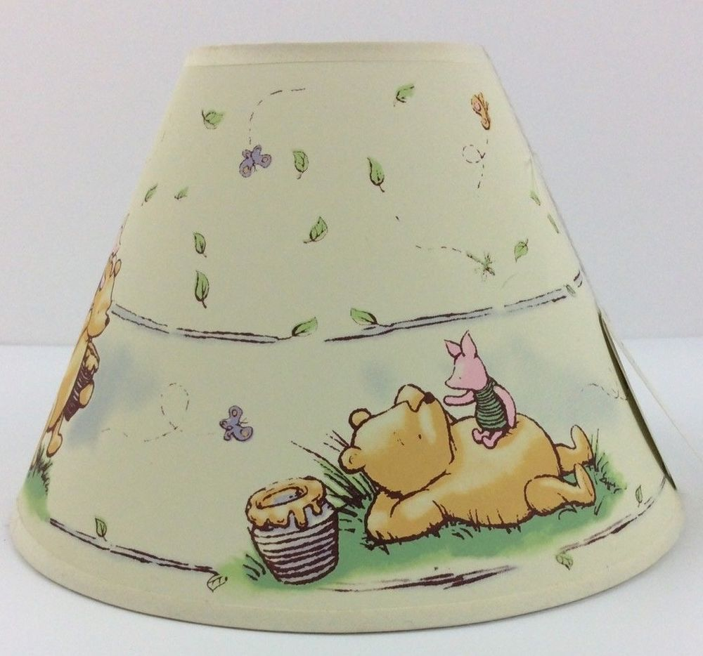 Winnie the Poo /& Friends Nursery Lampshade Grey /& White Tigger Piglet Eeyore