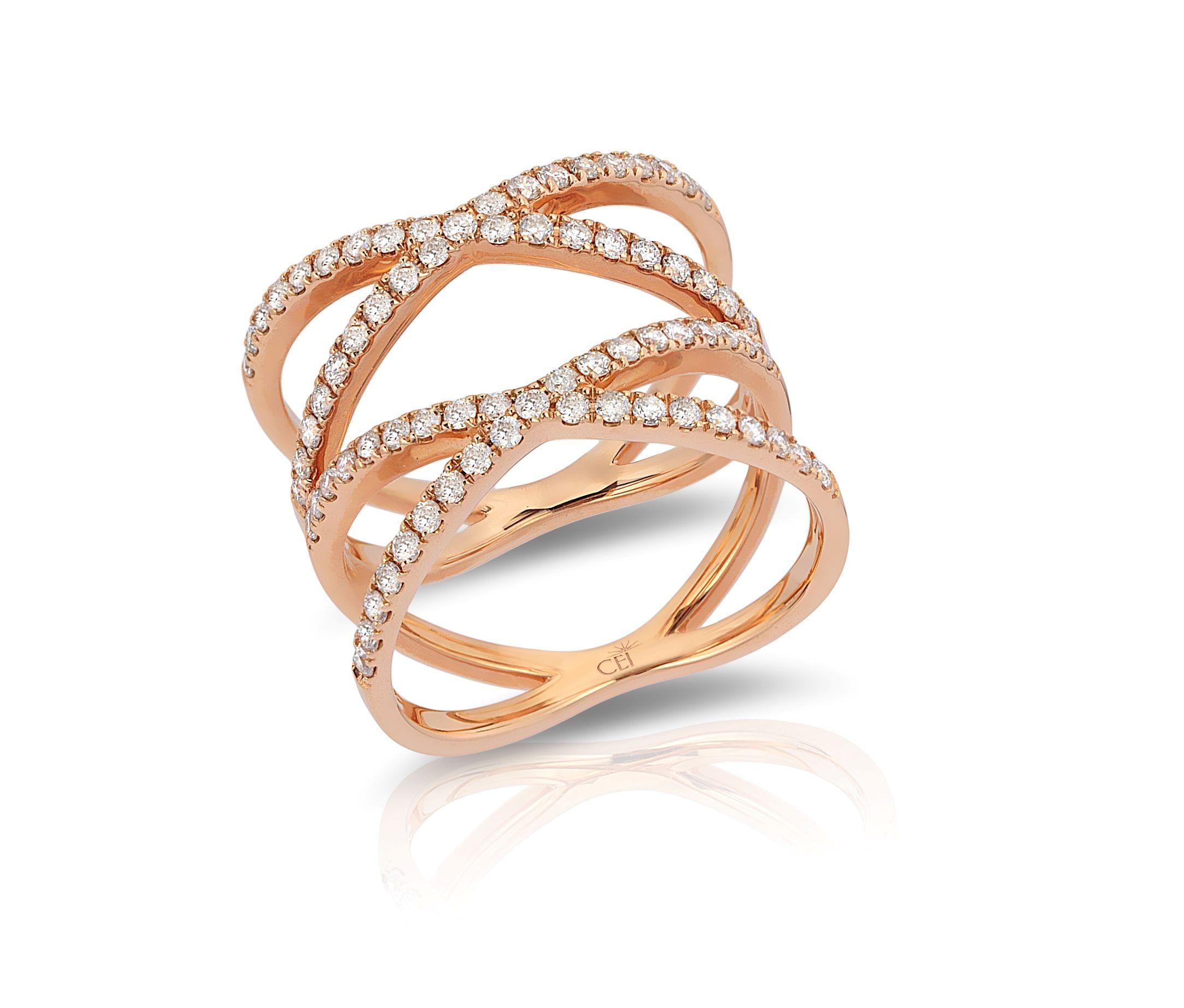 14k rose gold diamond ring Rose gold diamond ring Gold diamond