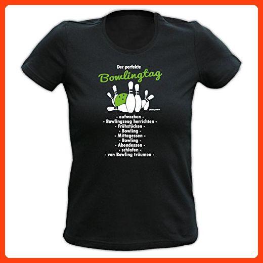 Lady Shirt Der perfekte Bowlingtag Damen Shirt Geburtstag Geschenk T-Shirt  geil bedruckt Goodman Design