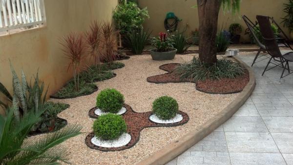 Jardins Com Buxinhos E Pedras Pesquisa Google Paisagismo Jardim