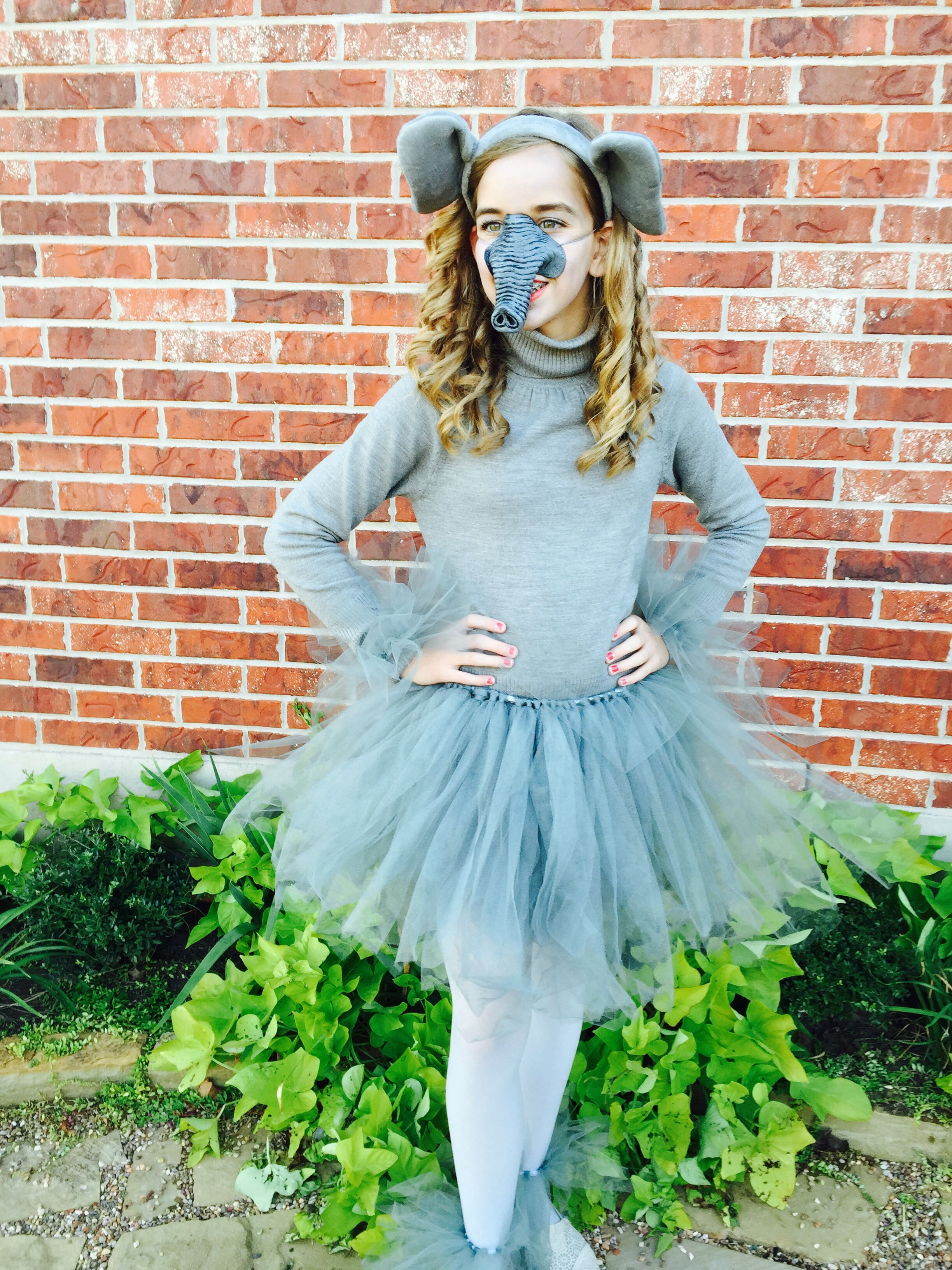 Cutest elephant costume yet!!! Diy tutu on youtube and order the ears on amazon. Next buy the nose at a Halloween store and some leggings at walmart! & Cutest elephant costume yet!!! Diy tutu on youtube and order the ...