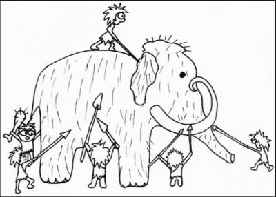 dibujos de la prehistoria para niños para colorear