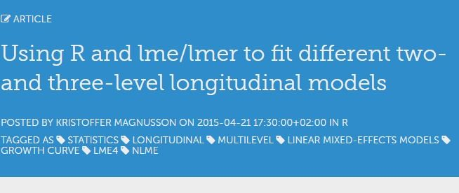 Using R and lme/lmer to fit different two- and three-level