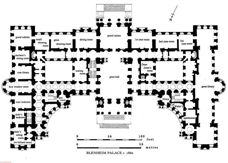Blenheim Palace Oxfordshire England Ground Floor 65c0dd8cd61f7970b63dd0a1ce02f635 Jpg 736 526 Castle Floor Plan Blenheim Palace Architectural Floor Plans