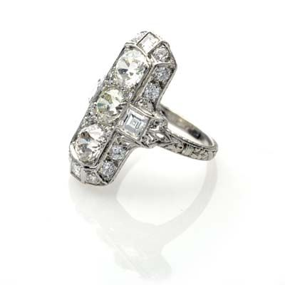 1918 engagement ring!