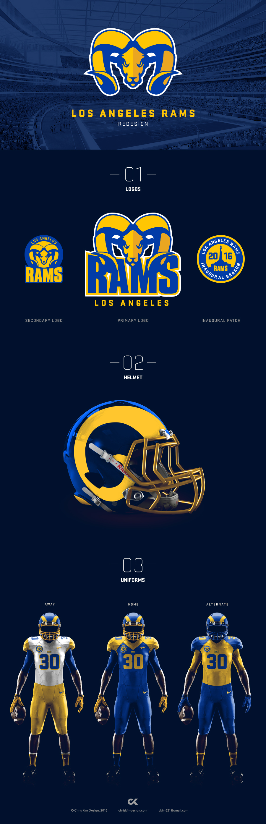 Los Angeles Rams Redesign On Behance Los Angeles Rams Los Angeles Sports Design
