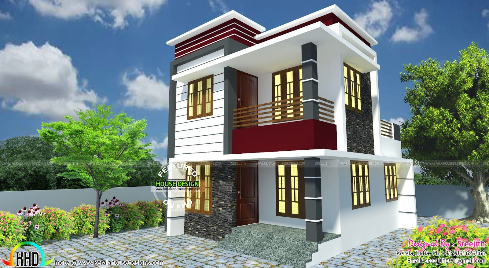 Small South Facing Modern Home Beautiful House Plans Duplex House Design Small House Design Philippines