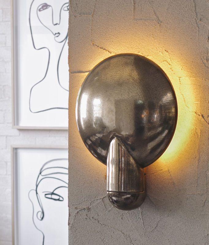 studio henry wilson surface wall sconce in gunmetal bronze