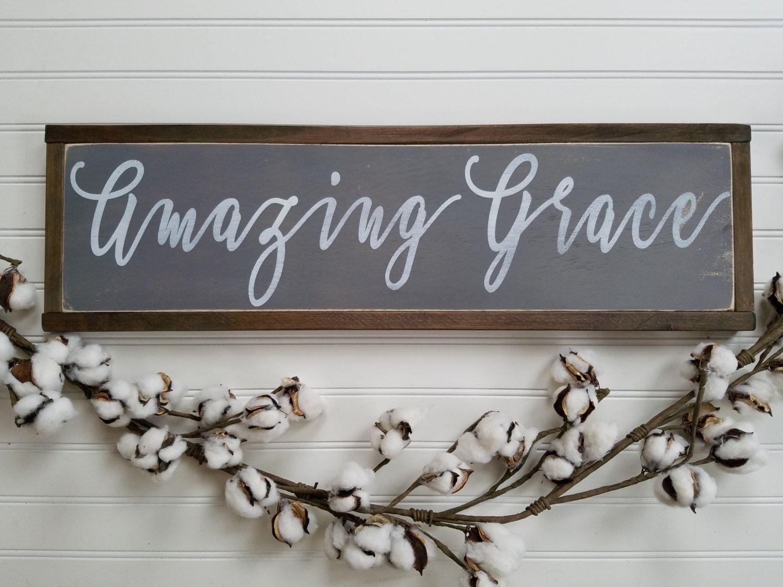 Amazing grace sign amazing grace wall art amazing grace wood