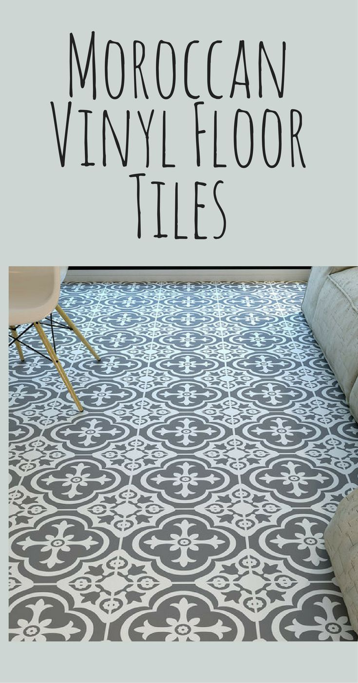 I want these vinyl tiles in my bathroom! Moroccan style vinyl floor ...