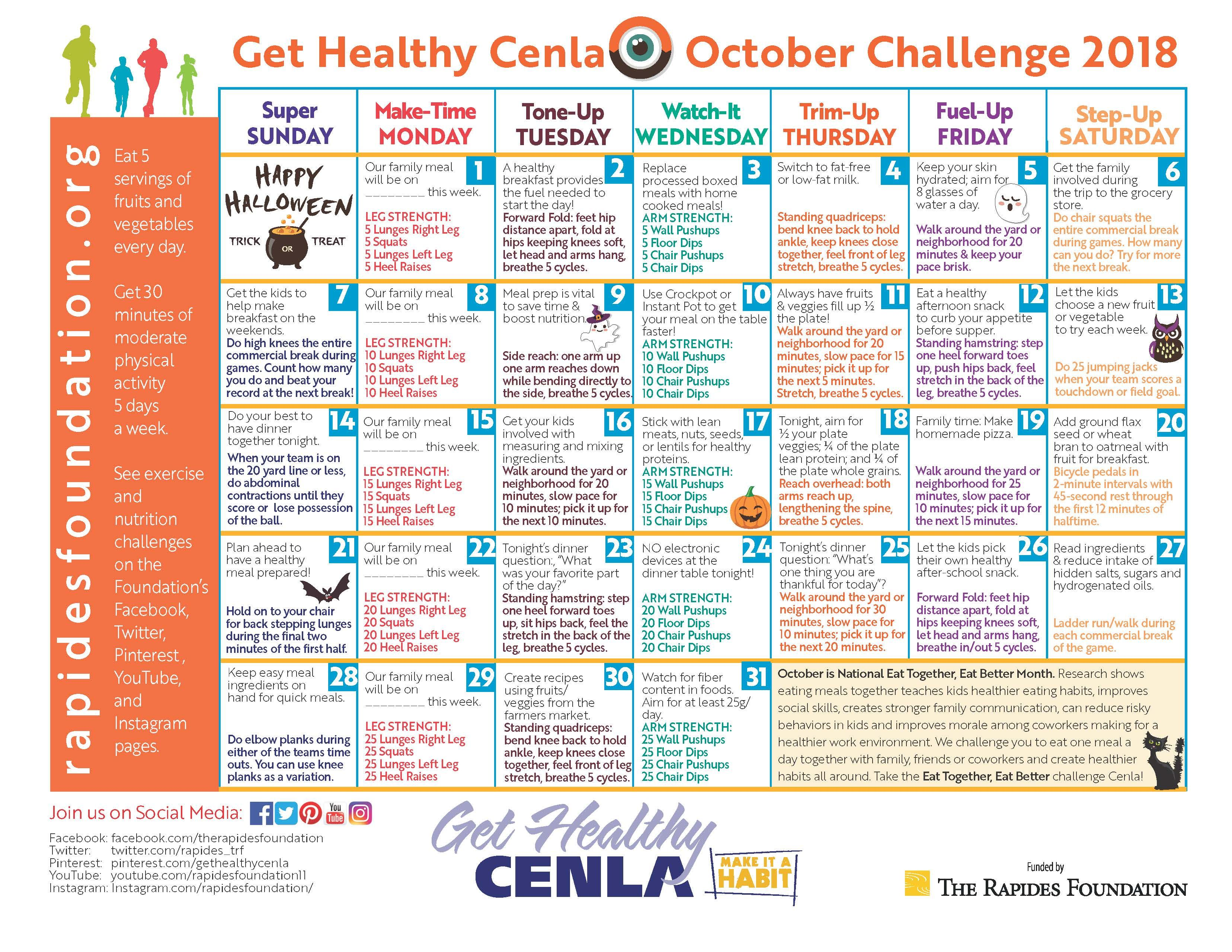 October health challenge