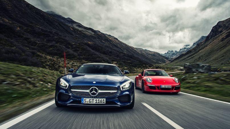 2016 Mercedes Amg Gt S And 2015 Porsche 911 Carrera Gts