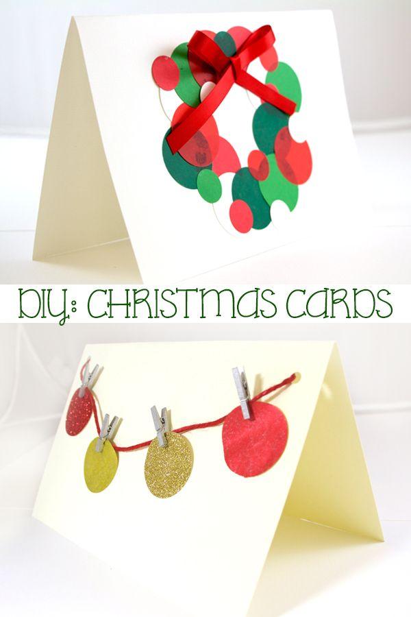 DIY Minimalist Christmas Cards Pinterest Christmas cards, Paper