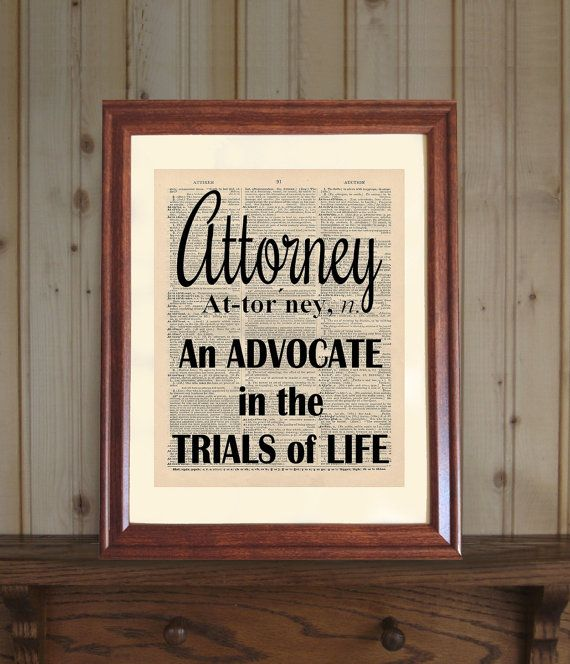 Captivating Attorney Dictionary Print Law Office Decor Lawyer By OldBookSmith