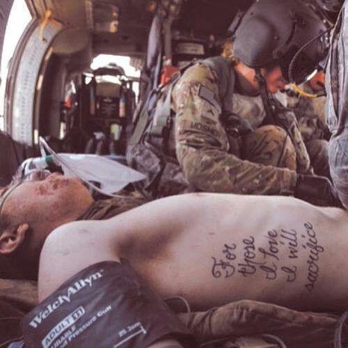 For Those I Love, I Will Sacrifice.
