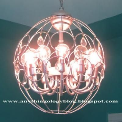 How to make a plant hanger chandelier diy light using a second how to make a plant hanger chandelier diy light using a second hand chandelier aloadofball Gallery