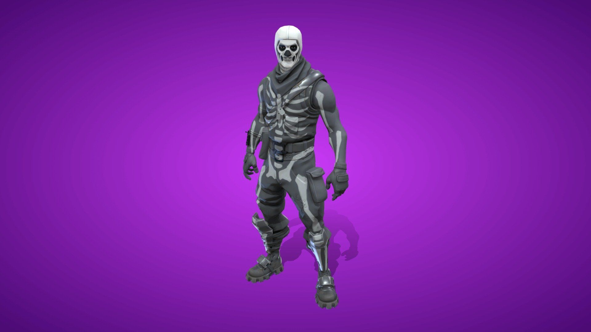 Skull Trooper Outfit 3d Model By Fortnite Skins Fortniteskins 7199a7a Sketchfab Fortnite Trooper Skin