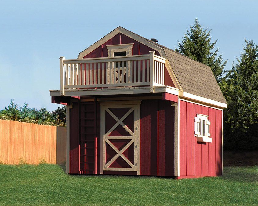 Storage Shed With Playouse Loft Shed