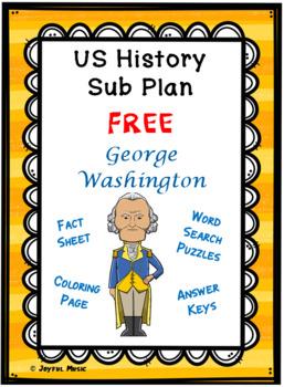 Photo of Distance Learning US HISTORY SUB PLAN President George Washington FREE