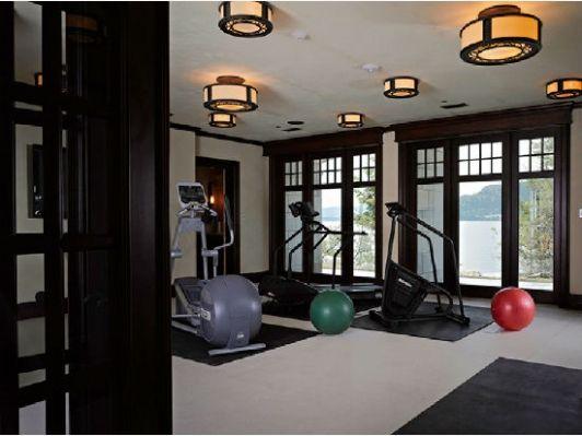 Luxury Home Gym Luxury Homes Luxury Home Gym Shelter Island