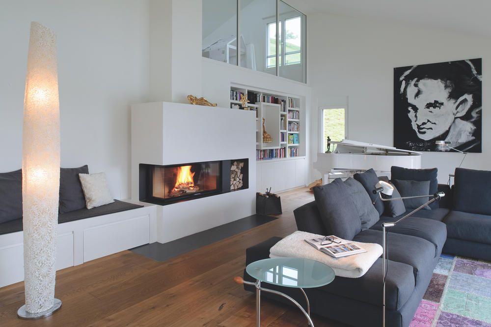 Kamin mit Sitzbank Saunas, Haus and Room - wohnzimmer ideen kamin