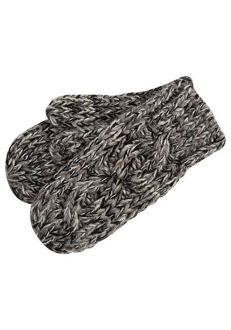 Tesco direct: F&F Marl Cable Knit Mittens