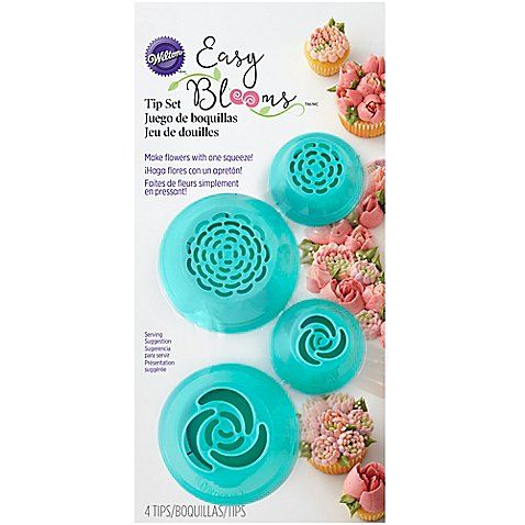 Wilton® 4-Piece Easy Bloom Cake Decorating Tip Set | Cake ...