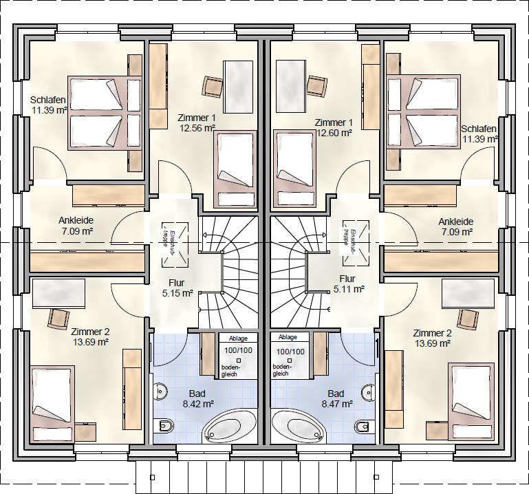 DUO 118 Doppelhaus mit je knapp 120 qm Wohnfläche