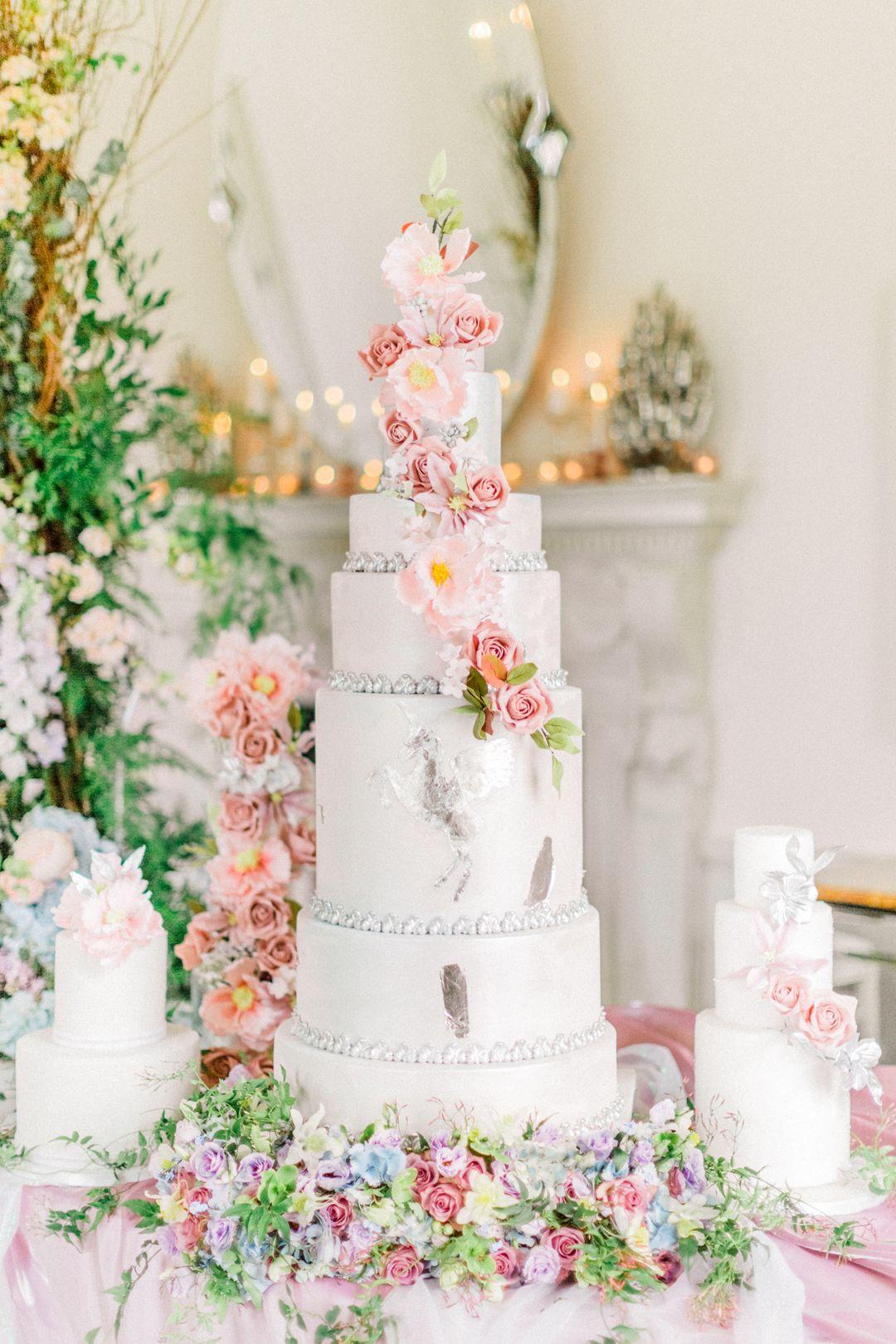Unicorn Wedding Cake By Elizabeth S Cake Emporium Photo By