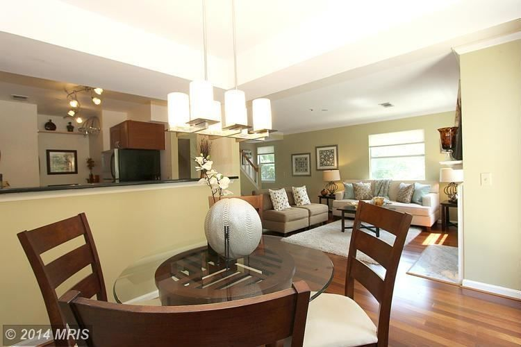 5712 Chapman Mill Drive #340, Rockville, MD 20852 — Beautifully Upgraded 2 Bed/2 Bath/2 Lvl End Unit TH Condo w/ 2 Exposures (S&E) boasting gorgeous views over the Trees w/ Patio & Balcony. Brazilian wood flrs, completely updated kit & baths w/ porcelain tile, granite, stainless appliances & more. Location at its best-near Metro, 495, 270, NIH, Bethesda Naval, Midtown Bethesda Shops. FHA & VA approved & great amenities!