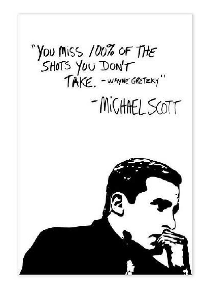 Michael Scott Wayne Gretzy Quote Poster, The Office TV Show Wall Art ...