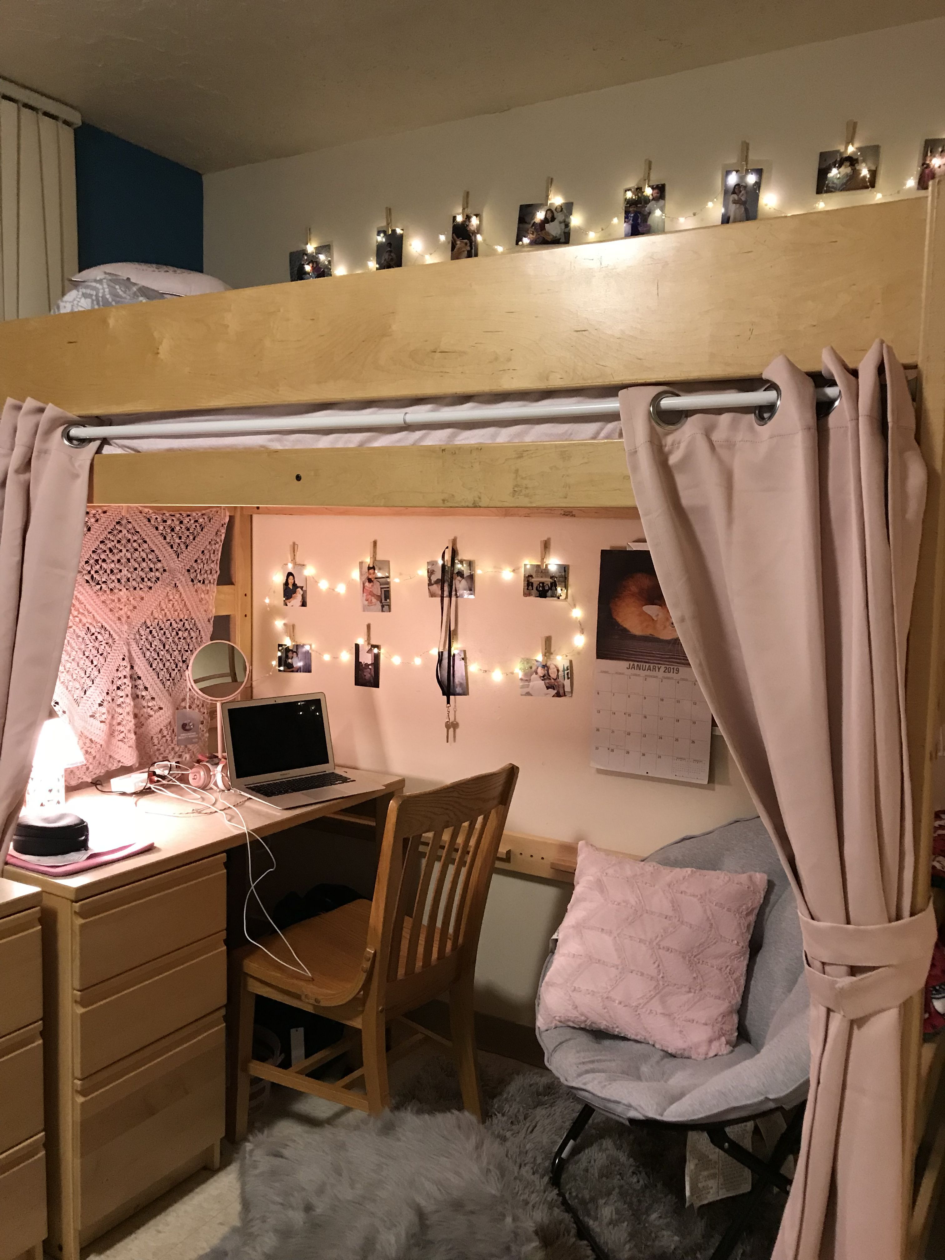 My dorm loft with curtains also teen bedroom ideas  girl  room for every style from  rh pinterest