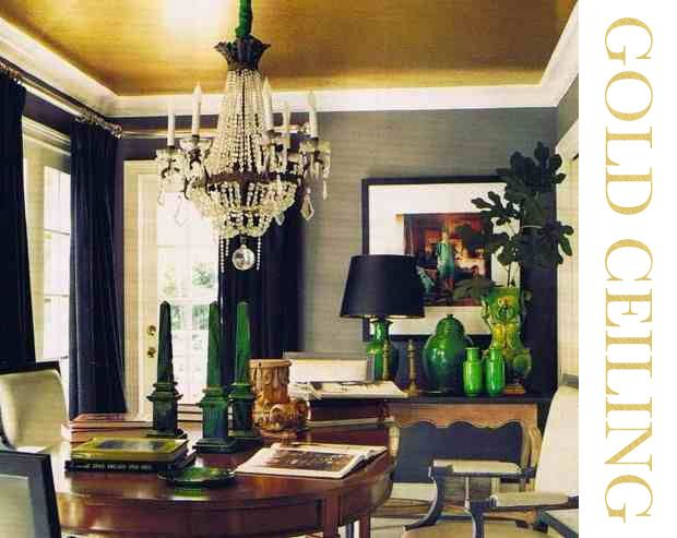 Office Inspiration Gold Ceiling Home Decor Ceiling