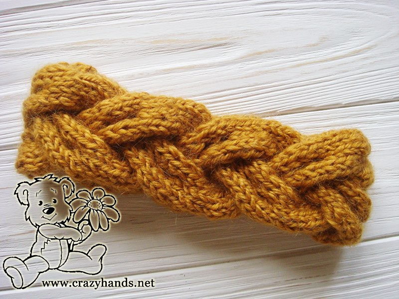 Bulky Braided Knit Headband #knitheadbandpattern