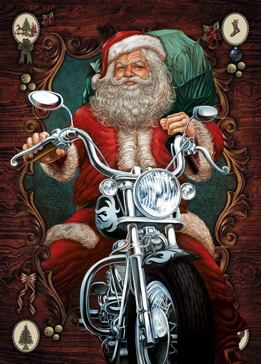 Santa Claus greeting cards - Biker Santa   Biker Life and Travels ...