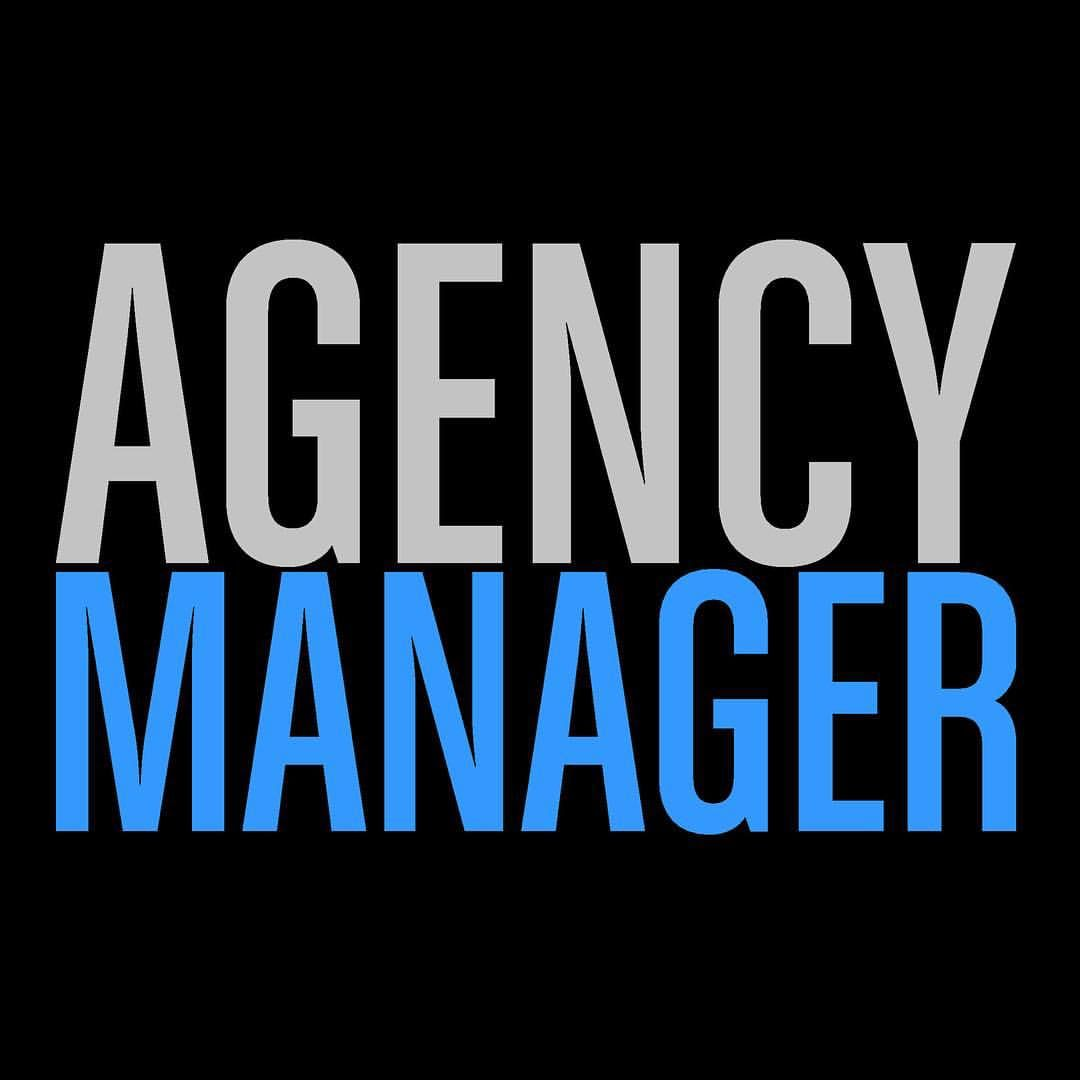 the new agencymanager logo design branding am amgr - Agency Manager