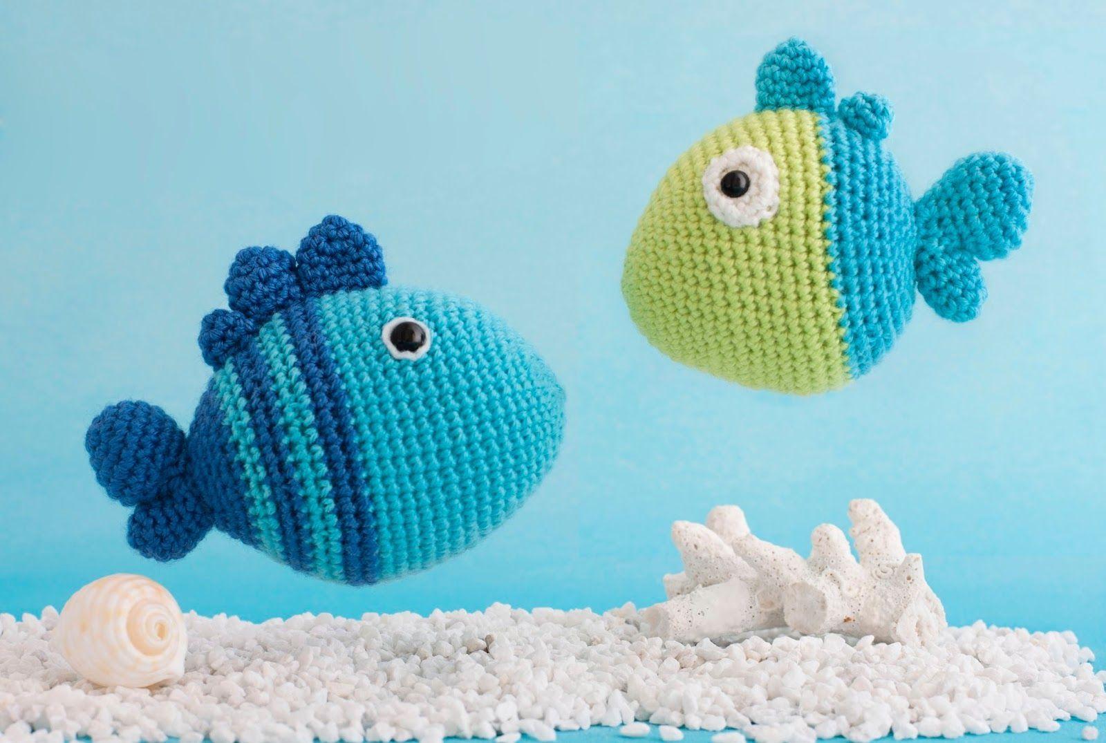 Fische HÄKELN Fish CROCHET - YouTube   1075x1600