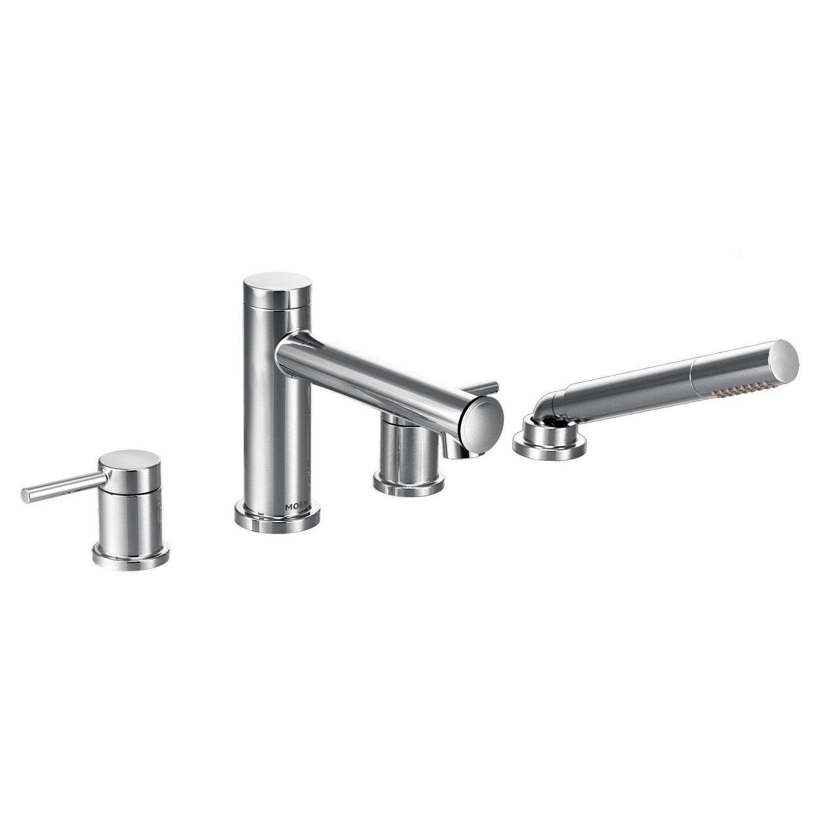 Moen Align Chrome Two-Handle Diverter Roman Tub Faucet Includes Hand ...