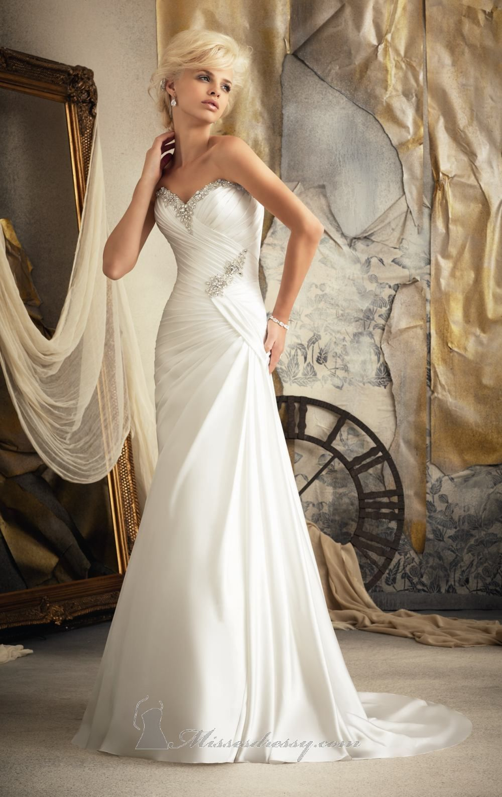 Strapless Soft Satin by Bridal by Mori Lee