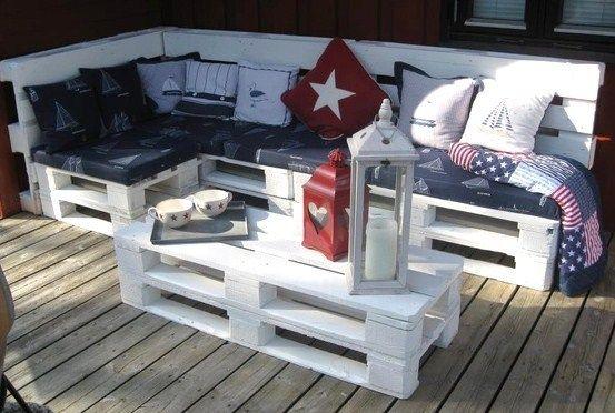 Salons de jardin faits avec des palettes en bois ! | Idee maison ...
