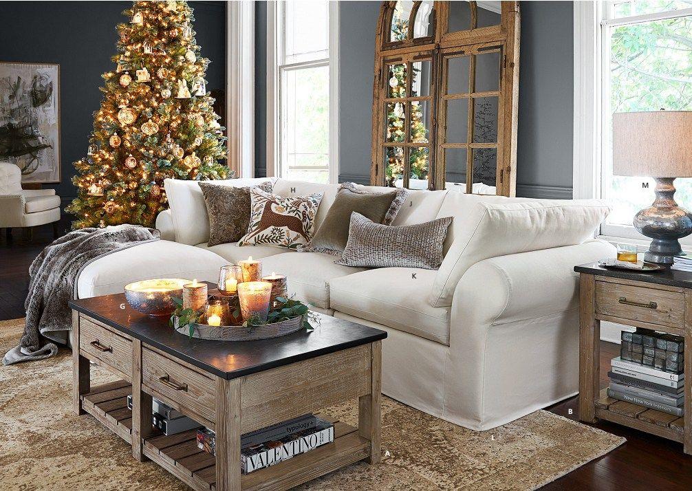 Pottery Barn Christmas Catalog December 2016 Living Room Living Room Pinterest Pottery